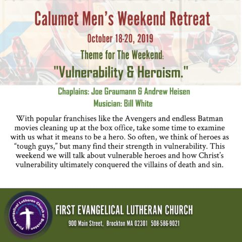 10/18/2019 - 10/20/2019: Calumet Men's Weekend Retreat @ Calumet Camp | Freedom | New Hampshire | United States