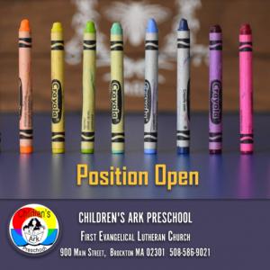 Children's Ark Preschool: Job Opening – Director/Teacher
