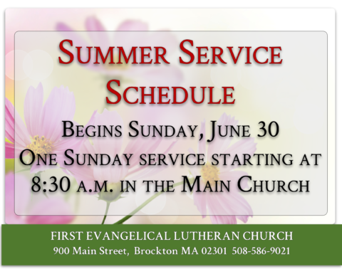 Sunday Worship Service - Summer @ First Evangelical Lutheran Church