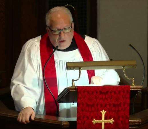 pastor jeff podium